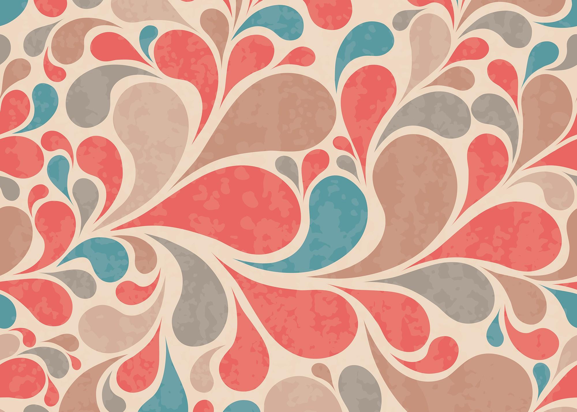 papier-peint-vintage-psycho-flower